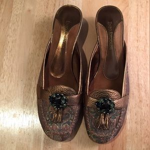 Enzo Angiolini Shoes, Size 6, EUC!,Bronze/Green.